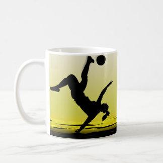 Soccer Girl Kick At The Beach Coffee Mugs