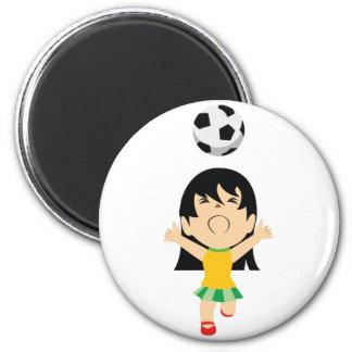 Soccer Girl Magnet
