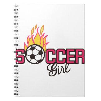 Soccer Girl Notebooks