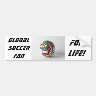 Soccer global fan bumper sticker