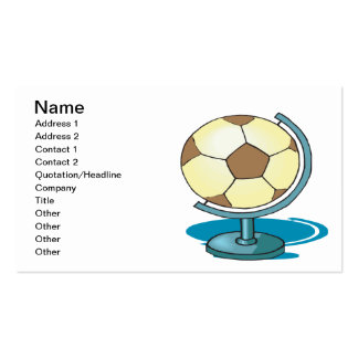 Soccer Globe Business Card Template