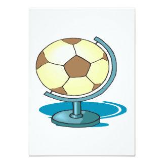 Soccer Globe 13 Cm X 18 Cm Invitation Card