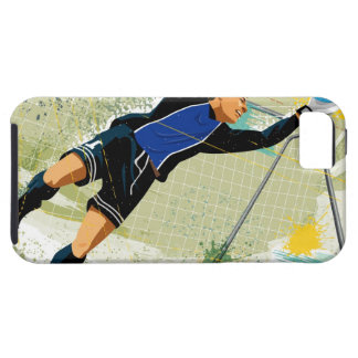 Soccer goalie blocking ball iPhone 5 covers