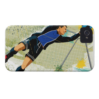 Soccer goalie blocking ball Case-Mate iPhone 4 case