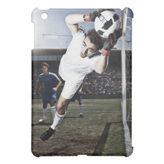 Soccer goalie catching soccer ball case for the iPad mini