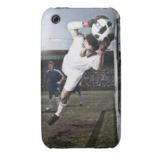Soccer goalie catching soccer ball Case-Mate iPhone 3 cases