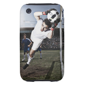 Soccer goalie catching soccer ball iPhone 3 tough cases