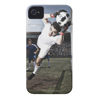 Soccer goalie catching soccer ball iPhone 4 cover