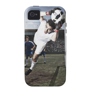Soccer goalie catching soccer ball iPhone 4 covers