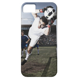 Soccer goalie catching soccer ball iPhone 5 covers