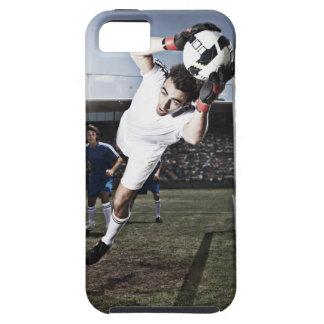 Soccer goalie catching soccer ball tough iPhone 5 case