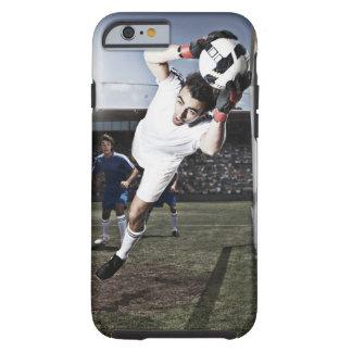Soccer goalie catching soccer ball tough iPhone 6 case