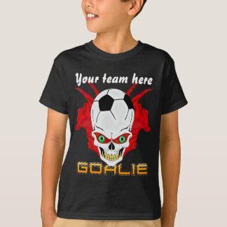 Soccer Goalie Kids All Styles Dark View Hints T-Shirt