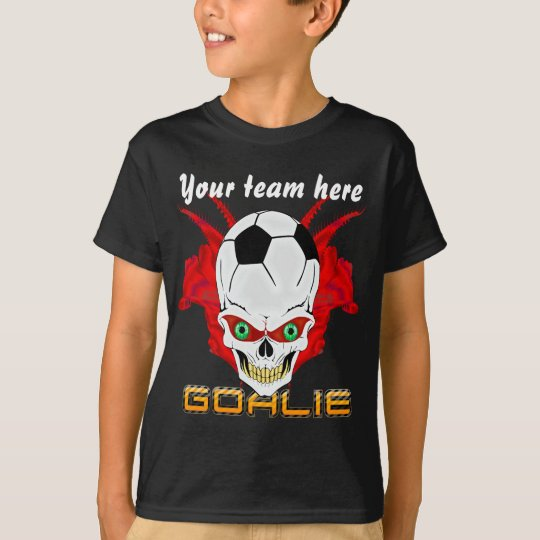 Soccer Goalie Kids All Styles Dark View Hints T-Shirt