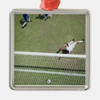 Soccer goalie missing soccer ball christmas ornament