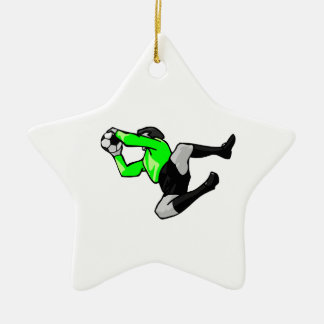 soccer goalie save graphic christmas ornament
