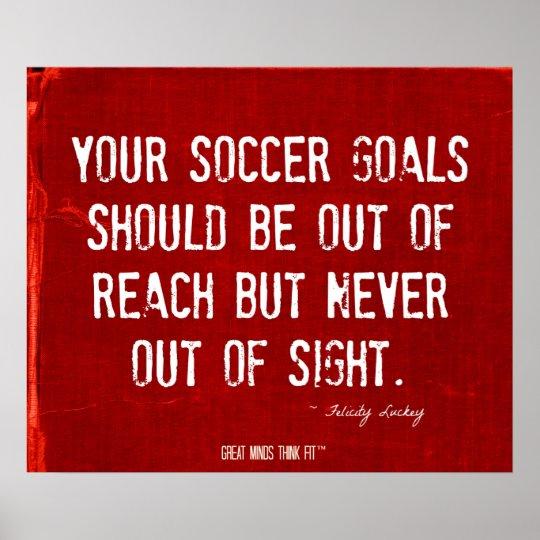 Soccer Goals Poster in Red Denim 003