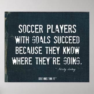 Soccer Goals Poster in Ripped Denim 007