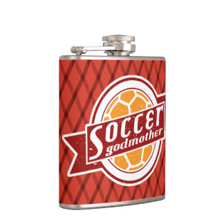 Soccer Godmother Stainless Steel Hip Flask