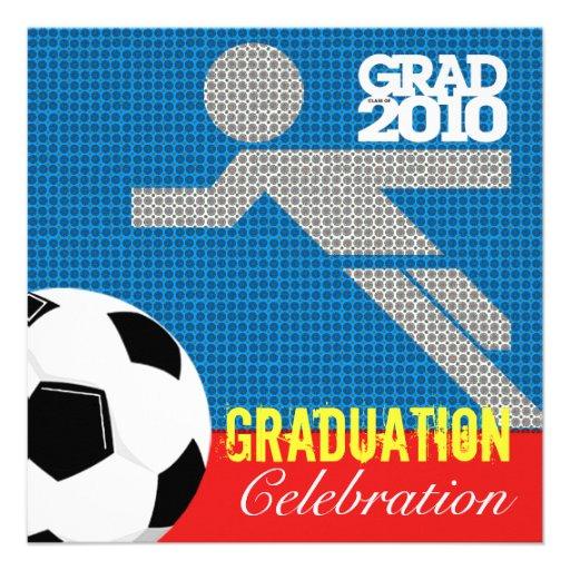 Soccer Graduation Party 2 Invitation