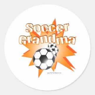 Soccer Grandma Classic Round Sticker