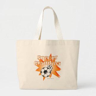 Soccer Grandma Large Tote Bag