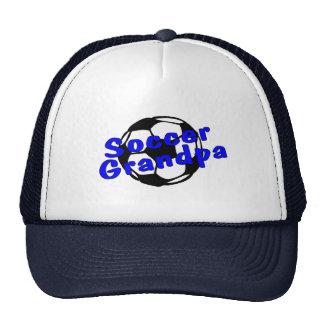 Soccer Grandpa Blue Mesh Hat