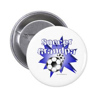 Soccer Grandpa Button