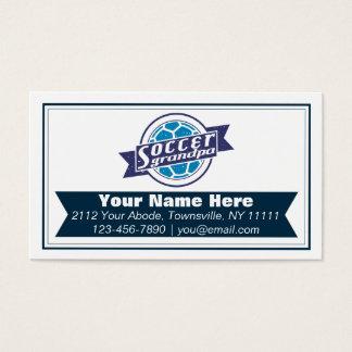 Soccer Grandpa Customizable Business Cards