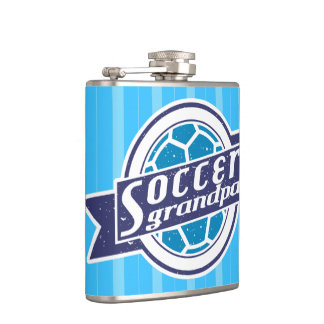 Soccer Grandpa Stainless Steel Hip Flask