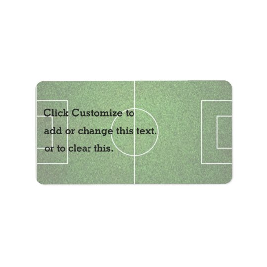 Soccer Green Coat Address Label