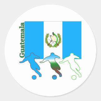 Soccer Guatemala Classic Round Sticker