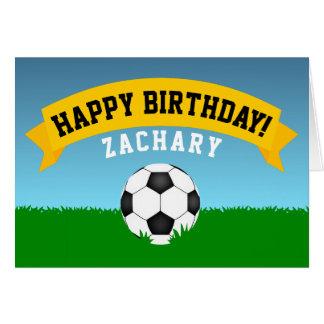Soccer Happy Birthday Card