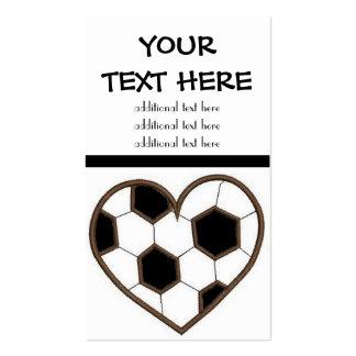 Soccer Heart Business Card Templates