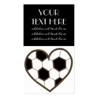 Soccer Heart Pack Of Standard Business Cards
