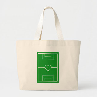 soccer,Heart Pitch.l love soccer Large Tote Bag