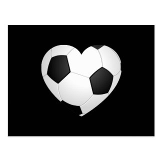 Soccer Heart Postcard