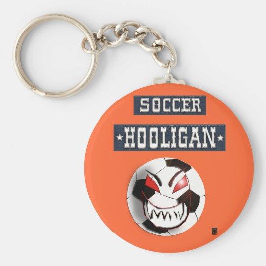 soccer hooligan basic round button key ring