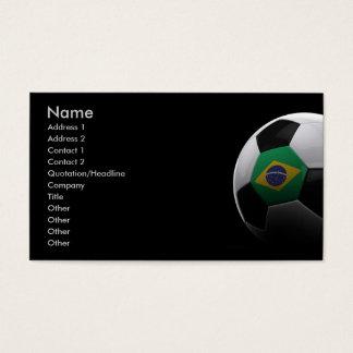 Soccer in Brazil Business Card