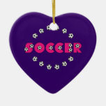 Soccer in Pink with Soccer Balls Ornament