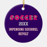 Soccer in Pink with Soccer Balls Ornaments