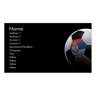 Soccer in Serbia Business Card Templates