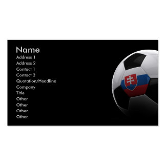 Soccer in Slovakia Business Card Template