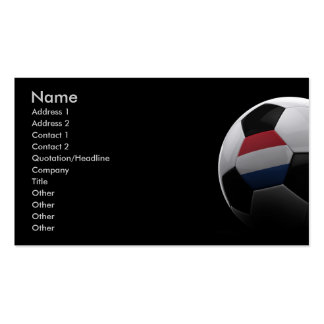 Soccer in the Netherlands Pack Of Standard Business Cards