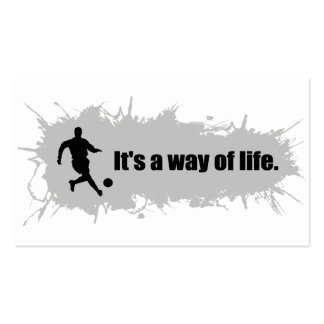 Soccer is a Way of Life Business Card