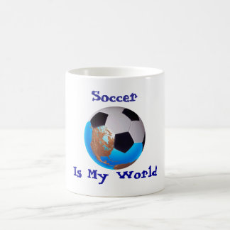 Soccer Is My World Basic White Mug