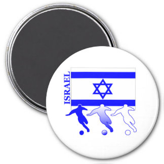 Soccer Israel Round Magnet