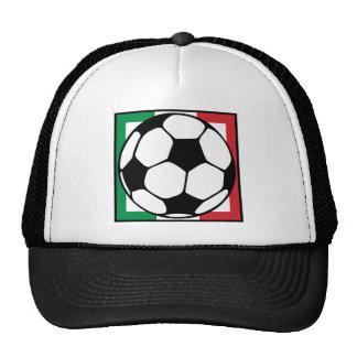 soccer. italia square. cap