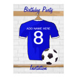 Soccer Jersey Birthday party invitations