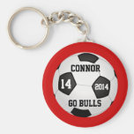 Soccer Keychains, Name, Team Name, Number and Year